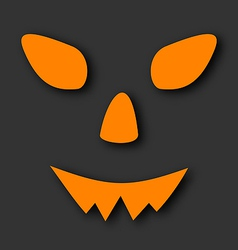 Jack o lantern pumpkin faces glowing on black vector