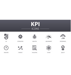 Kpi simple concept icons set contains such icons vector