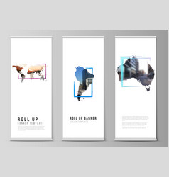 layout roll up mockup template vector image