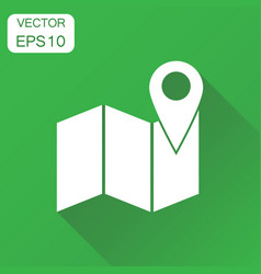 location gps icon business concept map with pin vector image