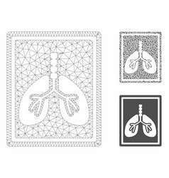 Lungs fluorography mesh carcass model and vector
