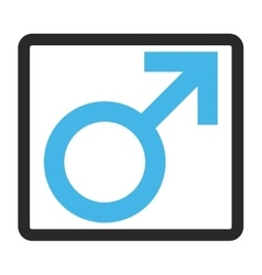 Male Symbol Framed Icon vector image vector image