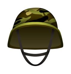 Modern camo army helmet mockup realistic style vector