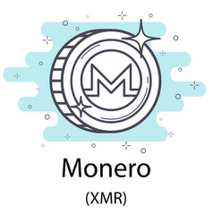 Monero outline coin vector