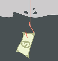 Money concept Money on hook vector