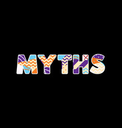 Myths concept word art vector