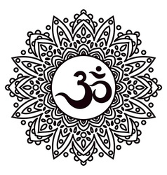 Om or Aum Indian sacred sound original mantra a vector image