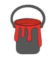 Paint bucket isolated vector
