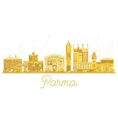 Parma italy city skyline golden silhouette vector