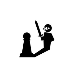 pawn warrior icon element of chess for mobile vector image