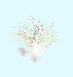 popper confetti paper shoot explode from white vector image