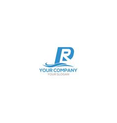 Pr pacific logo design vector