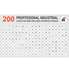 Professional industrial icons vector