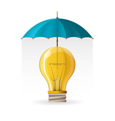Protection intellectual property concept in vector