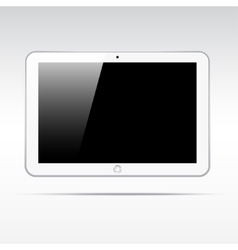 Realistic tablet isolated on light background vector image vector image