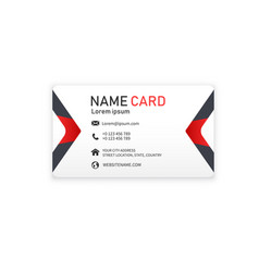 red black business creative modern name card vector image