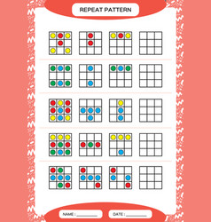 Repeat pattern square with colorfull circles vector
