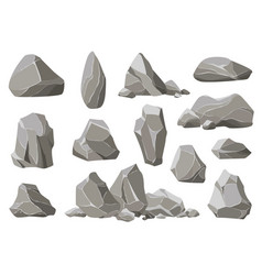 Rock stones and debris mountain gravel vector