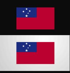 Samoa flag banner design vector