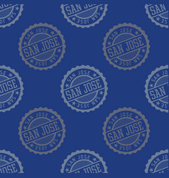san jose seamless pattern vector image