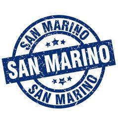 San marino blue round grunge stamp vector
