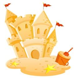 Sand castle vector