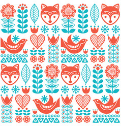 Scandinavian seamless folk pattern vector