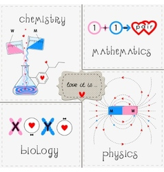 Set love it vector image