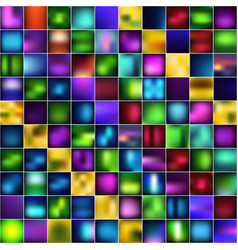 Set of abstract bright blurred backgrounds vector
