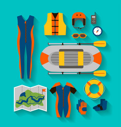 Set of equipment for sports and outdoor activities vector