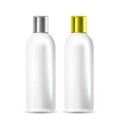 shampoo or body conditioner bottle set vector image