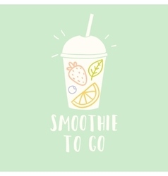 Smoothie cup to go vector