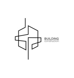 symbol building and property logo icon vector image