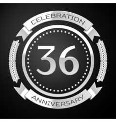 Thirty six years anniversary celebration with vector