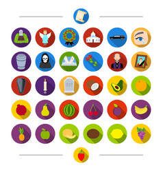 Vitamins funeral attributes and other web icon vector