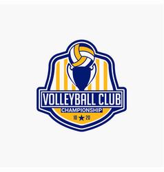 Volleyball club badge logo-5 vector