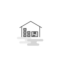 warehouse web icon flat line filled gray icon vector image