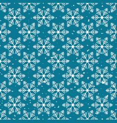 winter wonderland delicate white snowflake vector image