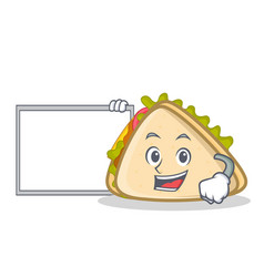 With board sandwich character cartoon style vector