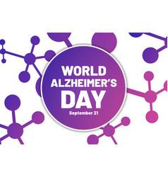 World alzheimer day september 21 template vector