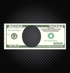 One Hundred Dollars Banknote on a Checker vector image vector image
