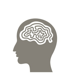 Head a brain vector image vector image