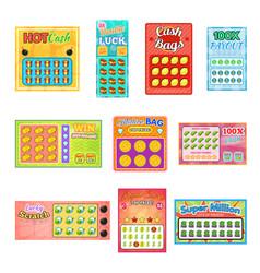 lottery ticket lucky bingo card win chance vector image