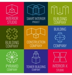 Architectural firm interior design studios vector image vector image