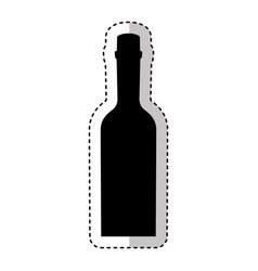 bottle drink silhouette isolated icon vector image