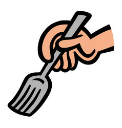dining fork vector image