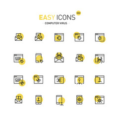 easy icons 44a computer security vector image