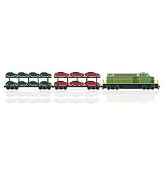 railway train 28 vector image vector image