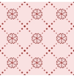 Seamless pattern with floral elements vector