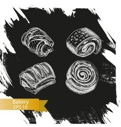 sketch - bakery buns puffs vector image vector image